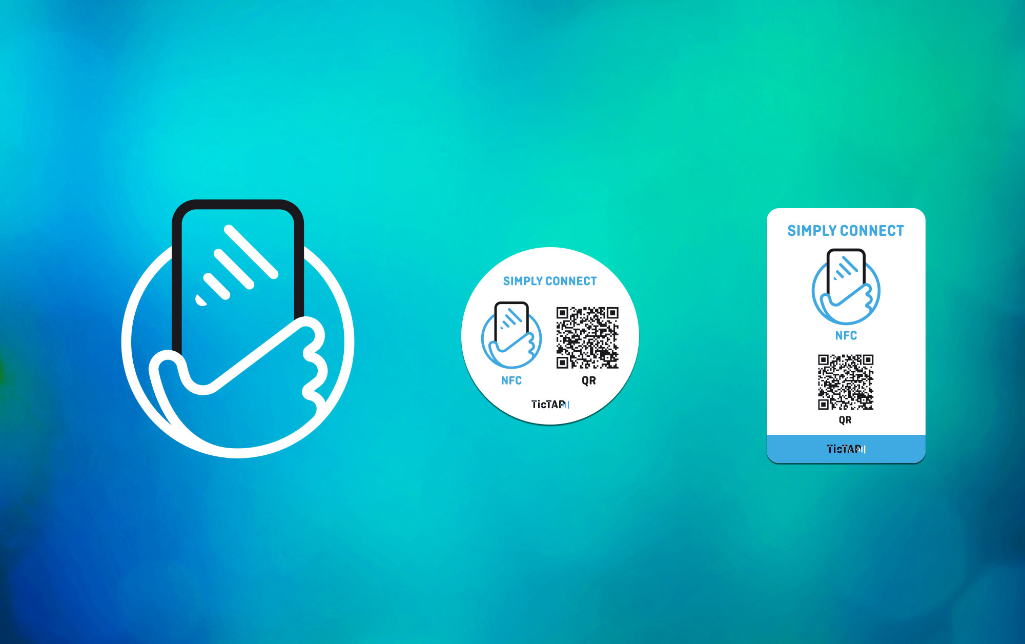 OffCourse TicTap Brand Elements phone icon app stick NFC