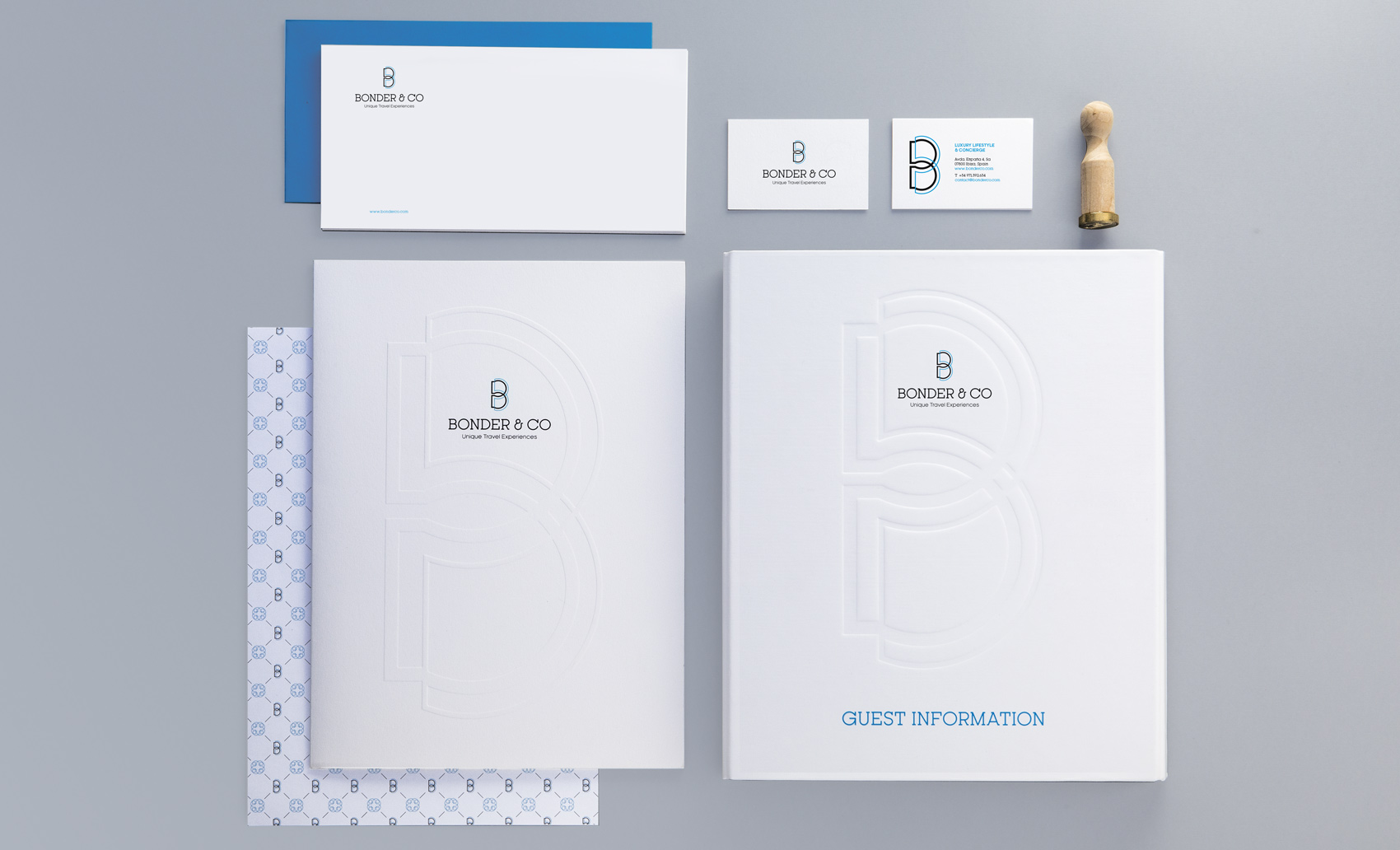 OffCourse Bonderco slider brand stationary corporate logo